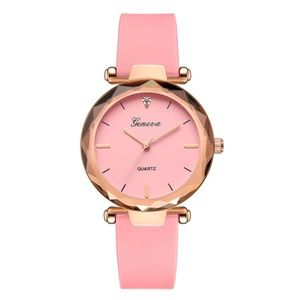 Accessories - NEW Pink Geneva Quartz Watch